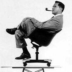 "modernizor:  ""The magnificent Mr. Charles Eames  #Eames #designer #furniture #chair #50s #design #vintage #retro #bnw #pipe #picoftheday #instalike #photo #Modernizor #instamood #instacool #instapic #portrait #iconic #stylish #decoration #pioneer #cool..."