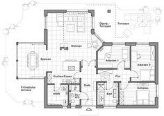 Ber ideen zu grundriss bungalow auf pinterest for Haus bauen 200qm
