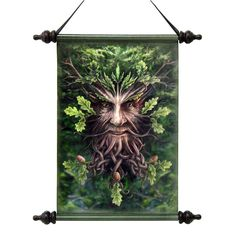 Park Avenue Collection Forest Greenman Ent Canvas Scroll