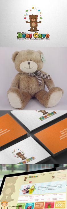 The Bear Cave #baby #diaper #giraffe #child #children #mom #mother #girl #care #mothercare #store #shop #logostore #kids #animals #little #cute #logoforsale #logostore #logodesign #design #designer #brand #brandidentity #brandstack #logo #logodesign #graphicdesign #logopond #behance #toys #bear #teddy #logo