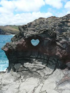 Heart rock, Maui, Hawaii
