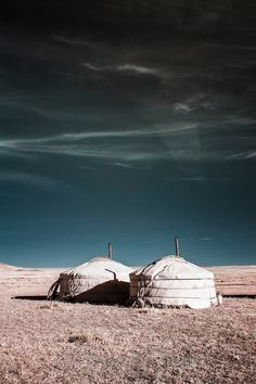 An infrared view of nomadic life on the Mongolian steppe, Nomadic Homestead, Dashinchilen, Mongolia