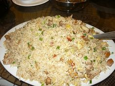 Arroz Chaufa ( Fried Rice Chinese Peruvian Food)