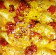 Stuffed pasta shells - vegetarian recipe
