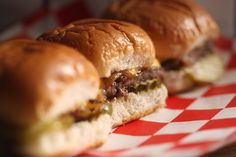 The Best Sliders for Football (Notes: Having the Grill Top/Griddle will make fast work of sliders!  Scale Recipe x10 for 30 servings; x12 for 48)
