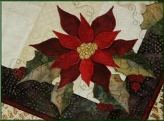 Poinsettia & Holly Runner & Placemate