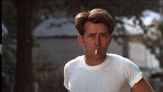 "Martin Sheen, during ""Badlands,"" I think. World Movies, New Movies, Martin Sheen Young, Charlie Sheen Shirts, Sissy Spacek, Man Smoking, Smoking Room, Film Stills, American Actors"