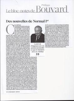 Lettre de Philippe Bouvard a Normal 1er (Francois Hollande)