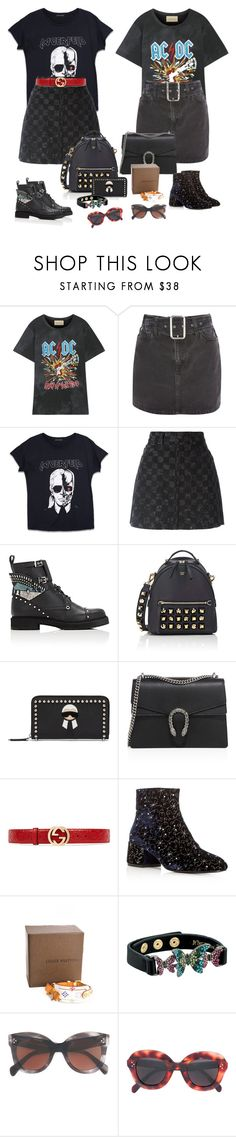 """""""Fashion"""" by audrey-balt on Polyvore featuring Gucci, Topshop, Karl Lagerfeld, Marc Jacobs, Fendi, Ash, Louis Vuitton, Betsey Johnson and CÉLINE"""