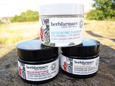 Herbfarmacy Skincare Review - Exfoliating Cleanser, Skin Rescue Balm, Mallow Beauty Balm
