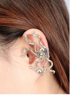 Korea Style and Stylish 5PCS Rhinestone Inlaid Octopus Shape Ear Studs (COLOR ASSORTED) China Wholesale - Sammydress.com