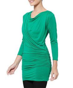 Love this Green Josie Tunic on #zulily! #zulilyfinds