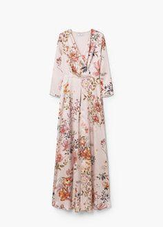 Vestido comprido floral