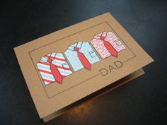 Father's Day Card Dress Shirts by apaperaffaire on Etsy, $3.00