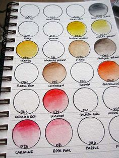 great way to keep track of the watercolor crayons you have