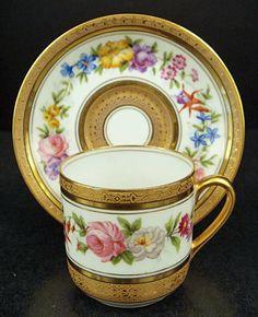 Charming Antique Limoges Demitasse Cup & Saucer