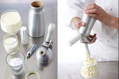 Recette de Chantilly au siphon, Une crème chantilly onctueuse, facile à réaliser grâce à l'utilisation du siphon.