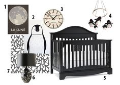 Black and White Nursery- Penguins- Pilgrimage collection by kathy ireland Baby Penguin Nursery, Penguin Baby, Baby Penguins, Our Baby, Baby Love, Black White Nursery, Kathy Ireland, Rugrats, Nursery Design