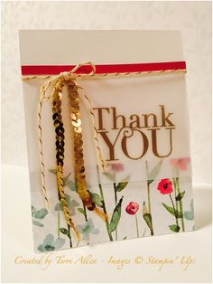 Another Thank You, Stampin' Up! using the gorgeous Painted Blooms DSP.