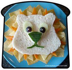 Cute Lion sandwich! Serve after teaching Daniel and the Lions den:)