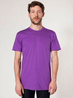 American Apparel oz Organic Fine Jersey cotton, taped shoulder to shoulder, double needle sleeves and bottom hem. Organic Cotton T Shirts, Jersey Shorts, American Apparel, Menswear, Mens Fashion, Unisex, Tees, Mens Tops, Clothes