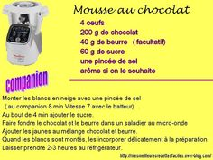 Recette mousse au chocolat express Dessert Companion, Prep & Cook, Cake Factory, Macarons, Desserts, Blog, Diners, Beignets, Brownies