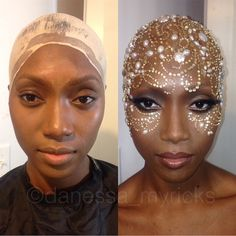 """Counting down my favorite transformations of Look 3 in the """"Bald Cap Beauty"""" series made me . Girls Makeup, Glam Makeup, Beauty Makeup, Pretty Makeup, Bald Cap, High Fashion Makeup, Bald Women, Bald Heads, Shaved Head"""