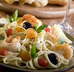 Greek Shrimp and Pasta   The Cooking Mom
