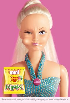 Chupa Chups advertisment, Mini Chupa Chups Kipik, Barbie