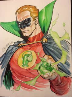 Alan Scott (Green Lantern) by Brandon Peterson