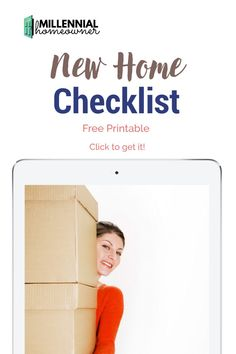 Wondering what home necessities and essentials you need for your first house? Get this free first home checklist and get collecting what you need. Our first home pdf checklist is a free printable just for you! First Home Checklist, Moving Checklist, Moving Day, Moving Tips, Moving House, New Home Essentials, Household Items, Household Products, Housekeeping Tips