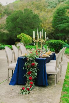 Blog - Beauty and the Beast Wedding Ideas in Gold, Navy and Red