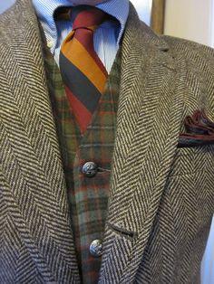 """thesuitroom: """" Tweed, worsted wool, silk. """""""
