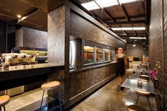 Stained particle board  Code Black Coffee by Zwei Interiors Architecture.