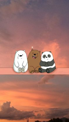 thats a cute wallpaper for We Bare Bears Cute Panda Wallpaper, Bear Wallpaper, Kawaii Wallpaper, Cute Wallpaper Backgrounds, Pretty Wallpapers, Aesthetic Iphone Wallpaper, Galaxy Wallpaper, Nature Wallpaper, We Bare Bears Wallpapers