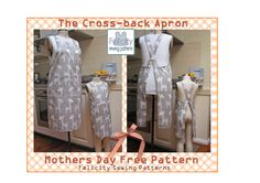 Welcome to the Cross-back Apron free pattern download. In the pattern file you will find two separate patterns for the adult and kids aprons; please print each pattern separately to save confusion.