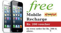 Mobile Recharge coupons at Foodpanda