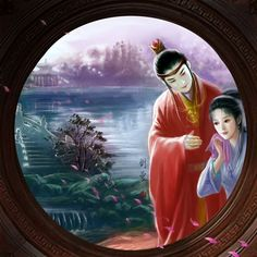 A Dream of Red Mansions by hiliuyun on DeviantArt China, Mona Lisa, Oriental, Digital Art, Creations, Deviantart, Fantasy, Mansions, Couples