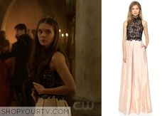 Kenna (Caitlin Stasey) wears this nude taffeta gown with black lace bodice in this week's episode of Reign. It is the Patricia Bonaldi Taffeta & Lace Gown. Buy it HERE for $1,915.