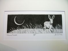 'Haresfield'  Drypoint  Di Oliver