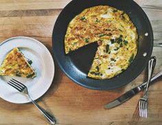 Here's an omelet that requires no actual practice: a frittata. And since you don't have to fold it, you can pile on whatever you want as long as it's either very small or precooked.