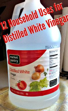 12 Household Uses for White Distilled Vinegar. I love cleaning with vinegar no harsh chemicals.