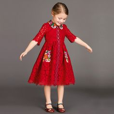 Discover the new Dolce & Gabbana Children Girl Collection for Fall Winter and get inspired. Girls Pageant Dresses, Little Girl Outfits, Little Girl Dresses, Kids Outfits, Party Dresses, Kids Dress Wear, Mom Dress, Baby Dress, African Dresses For Kids