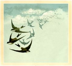 Vintage Swallows Image - Fabulous! - The Graphics Fairy