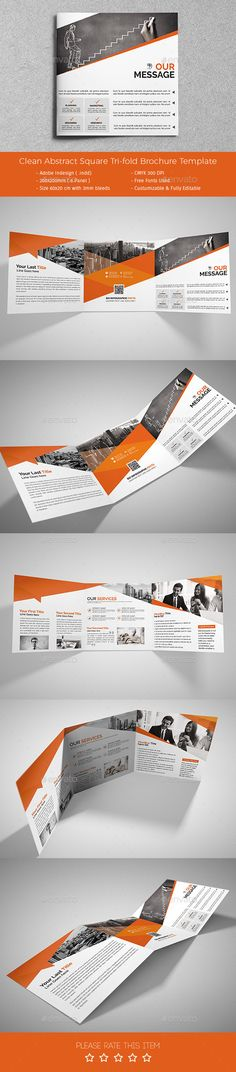 Corporate Tri-fold Square Brochure Template PSD #design Download: http://graphicriver.net/item/corporate-trifold-square-brochure-02/13604195?ref=ksioks