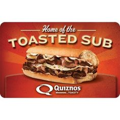 Quiznos eGift Card - $25 $50 $100 - Email delivery Gift Cards, The 100, Delivery, Digital, Ethnic Recipes, Ebay, Food, Gift Vouchers, Essen