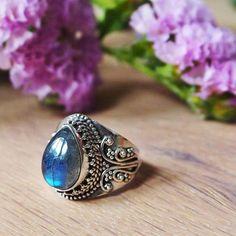 Enchant Me - Fiery Labradorite & Sterling Silver Ring