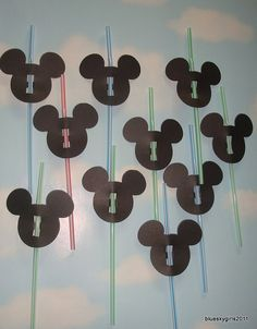 """I'm sooo going to make these with my """"Mickey Mouse Font"""" Cricut cartridge!"""