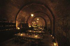 Dining In The Cellar At Castel Monastero