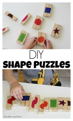 Create your own form puzzle for toddlers and preschoolers! - # own # form puzzles # for # your K Toddler Fun, Toddler Preschool, Toddler Crafts, Preschool Crafts, Crafts For Kids, Toddler Learning Activities, Montessori Activities, Teaching Kids, Toddlers And Preschoolers